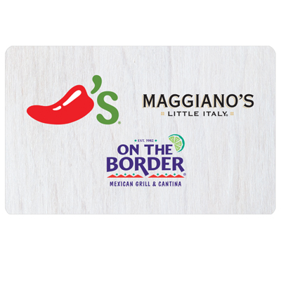 CHILI'S<sup>®</sup> $25 Gift Card - Enjoy mouthwatering favorites in an inviting atmosphere.