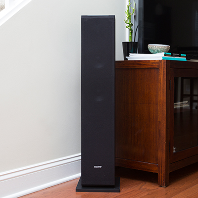 SONY<sup>®</sup> SSCS3 3-Way Floor-Standing Speaker - Pair - This set of speakers delivers an unprecedented real audio experience. Each floor standing speaker features a 19mm wide dispersion super tweeter for high-resolution audio, a 2.5 cm soft dome tweeter and 13 cm MRC diaphragm woofer for deep bass.  145w maximum input power.
